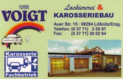 Lackiererei und Karosseriebau Frank Voigt,  Auer Str. 15,  08294 Lößnitz