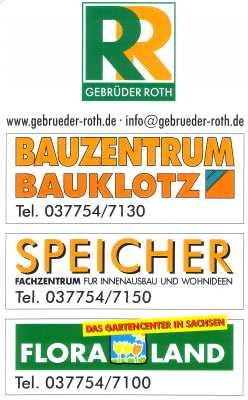Bauzentrum Bauklotz Gebrüder Roth 08297 Zwönitz