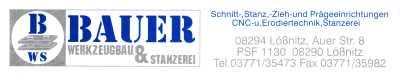Werkzeugbau und Stanzerei Bauer,  Auer Str. 8,  08294 Lößnitz